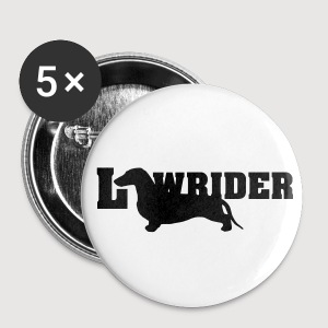 Kurzhaardackel LOW RIDER - Buttons groß 56 mm