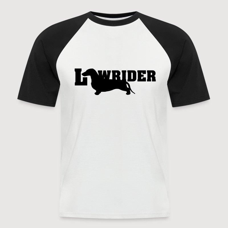 Kurzhaardackel LOW RIDER - Männer Baseball-T-Shirt