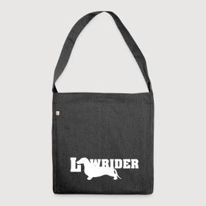 Kurzhaardackel LOW RIDER - Schultertasche aus Recycling-Material