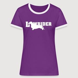 Kurzhaardackel LOW RIDER - Frauen Kontrast-T-Shirt