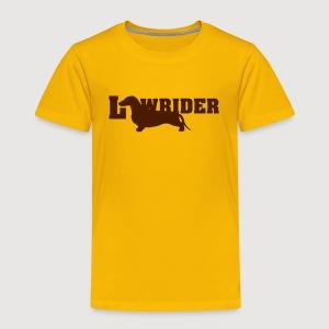 Kurzhaardackel LOW RIDER - Kinder Premium T-Shirt