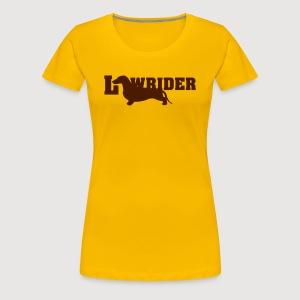 Kurzhaardackel LOW RIDER - Frauen Premium T-Shirt