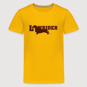 Kurzhaardackel LOW RIDER - Teenager Premium T-Shirt