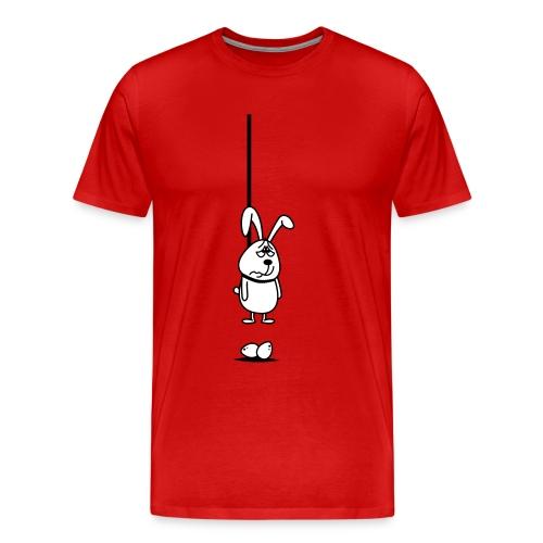 Hängender Osterhase 2c T-Shirts - Männer Premium T-Shirt