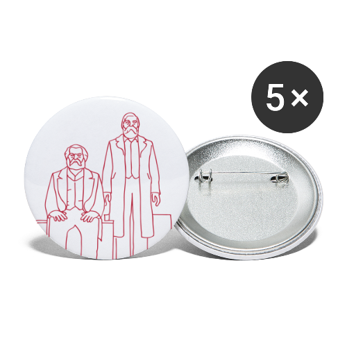 Marx-Engels-Forum Berlin - Buttons groß 56 mm (5er Pack)