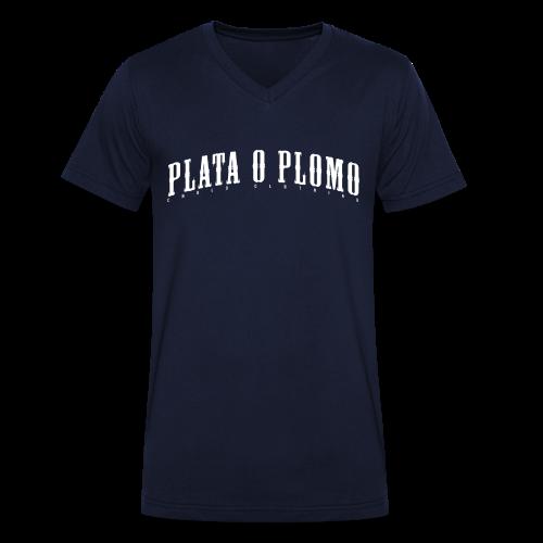 Plata o Plomo Shirt - Männer Bio-T-Shirt mit V-Ausschnitt von Stanley & Stella