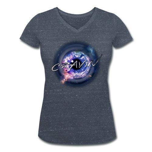 HOLD ME V-neck [FEMALE] - Women's Organic V-Neck T-Shirt by Stanley & Stella