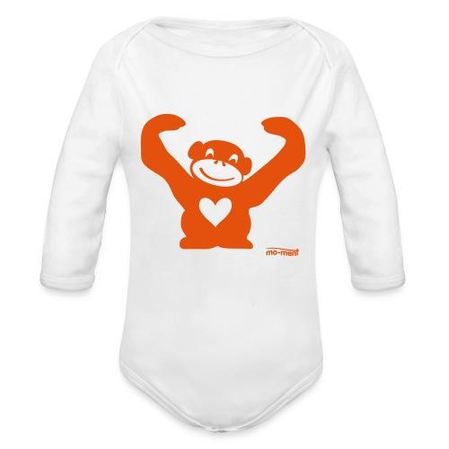 Affe mit Herz - Baby Bio-Langarm-Body