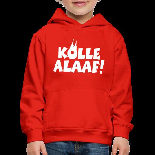 Kölle Alaaf mit Dom (Weiß) Kinder Hoodie - Kinder Premium Hoodie