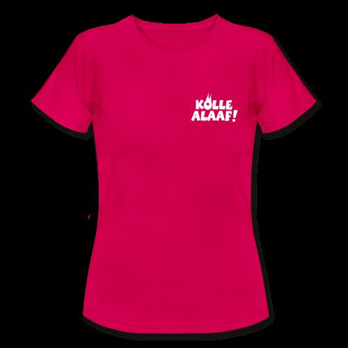 Kölle Alaaf mit Dom (Weiß) Damen T-Shirt - Frauen T-Shirt