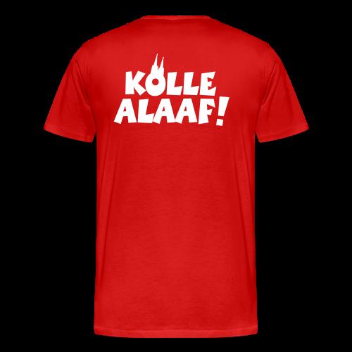 Kölle Alaaf mit Dom (Weiß) S-5XL Herren T-Shirt Rückenaufdruck - Männer Premium T-Shirt