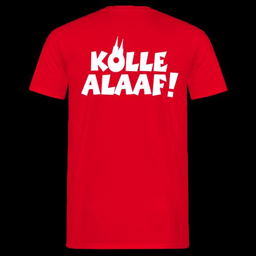 Kölle Alaaf mit Dom (Weiß) Herren T-Shirt Rückenaufdruck - Männer T-Shirt