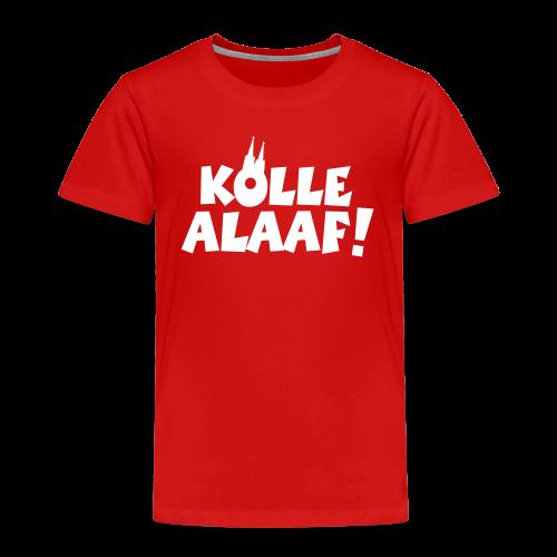 Kölle Alaaf mit Dom (Weiß) Kinder T-Shirt - Kinder Premium T-Shirt
