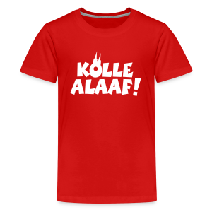 Kölle Alaaf mit Dom (Weiß) Teenager T-Shirt - Teenager Premium T-Shirt