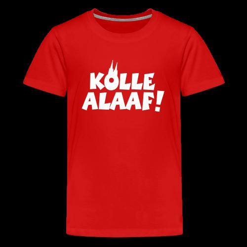 Kölle Alaaf mit Dom (Weiß) Teenager T-Shirt - Teenager Premium T-Shirt