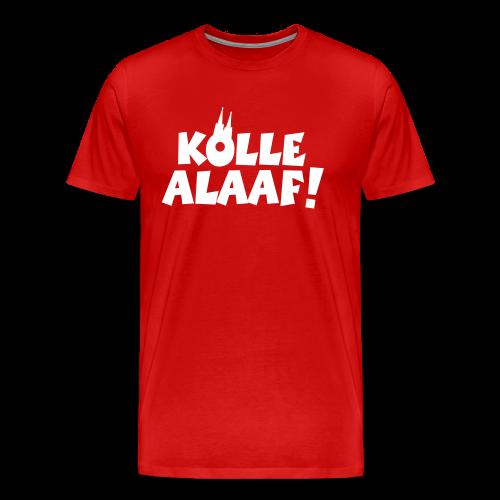 Kölle Alaaf mit Dom (Weiß) S-5XL Herren T-Shirt - Männer Premium T-Shirt
