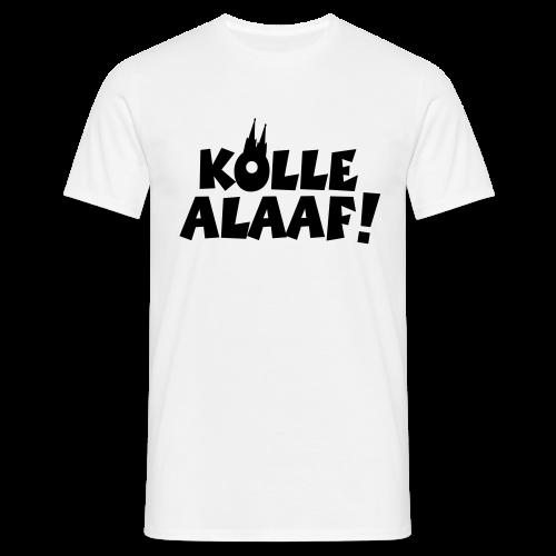 Kölle Alaaf mit Dom (Schwarz) T-Shirt - Männer T-Shirt