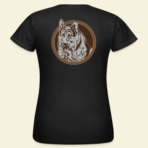 T-Shirt women, digitaler direktdruck hinten DSH  - Frauen T-Shirt