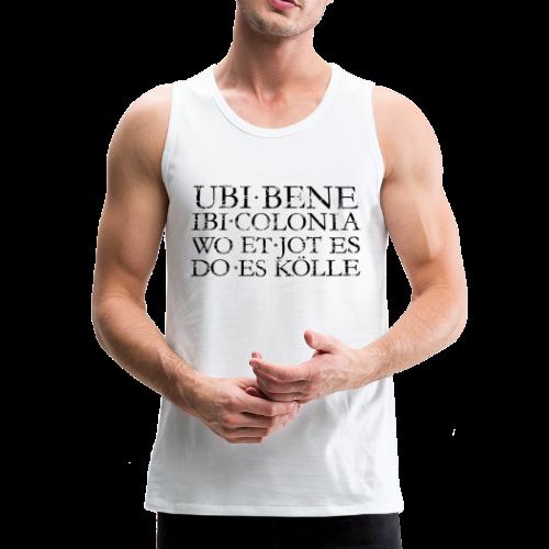 UBI BENE DO ES KÖLLE (Vintage Schwarz) Köln Tank Top - Männer Premium Tank Top
