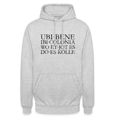 UBI BENE DO ES KÖLLE (Vintage Schwarz) Köln Hoodie - Unisex Hoodie