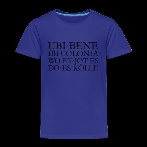 UBI BENE DO ES KÖLLE (Vintage Schwarz) Köln Kinder T-Shirt - Kinder Premium T-Shirt