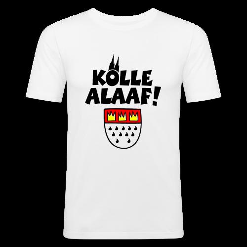 Kölle Alaaf mit Wappen und Dom Herren Slim Fit T-Shirt - Männer Slim Fit T-Shirt