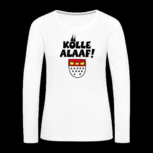 Kölle Alaaf mit Wappen und Dom Damen Langarmshirt - Frauen Premium Langarmshirt
