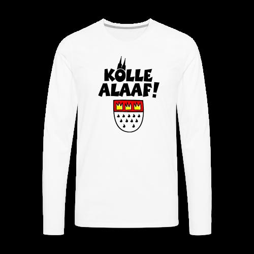 Kölle Alaaf mit Wappen und Dom Herren Langarmshirt - Männer Premium Langarmshirt