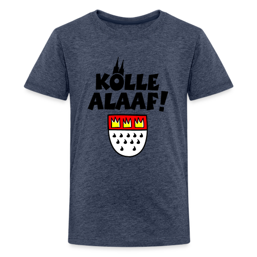 Kölle Alaaf mit Wappen und Dom Teenager T-Shirt - Teenager Premium T-Shirt