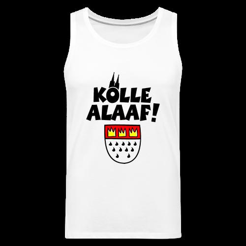 Kölle Alaaf mit Wappen und Dom Herren Tank Top - Männer Premium Tank Top