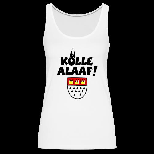 Kölle Alaaf mit Wappen und Dom Damen Tank Top - Frauen Premium Tank Top