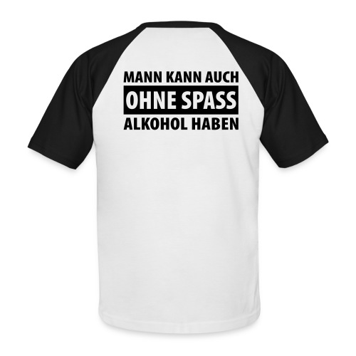 AlkoholSpaß - Männer Baseball-T-Shirt