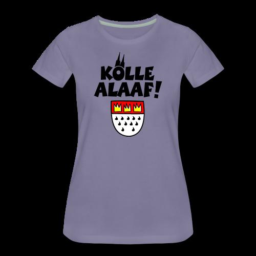 Kölle Alaaf mit Wappen und Dom S-3XL Damen T-Shirt - Frauen Premium T-Shirt