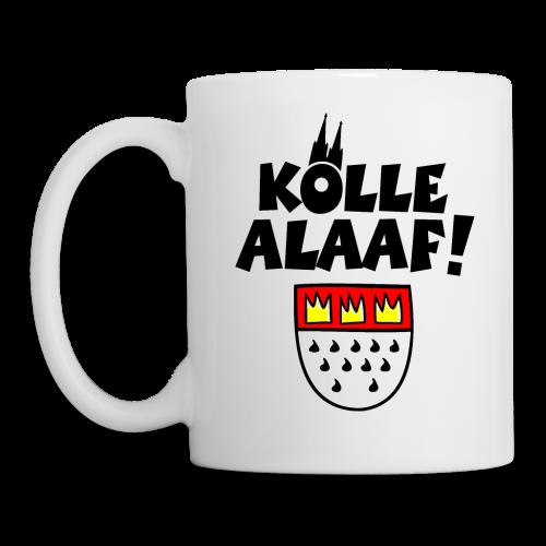 Kölle Alaaf mit Wappen und Kölner Dom