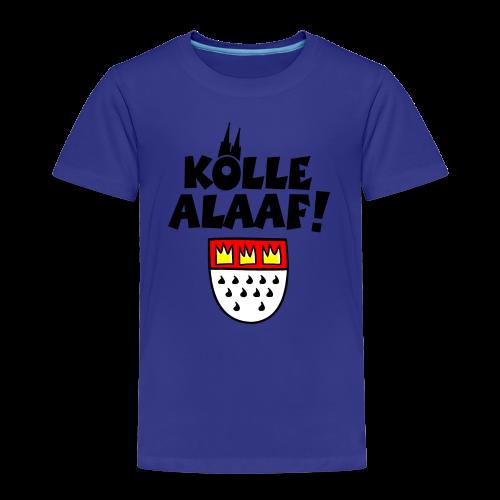 Kölle Alaaf mit Wappen und Dom Kinder T-Shirt - Kinder Premium T-Shirt