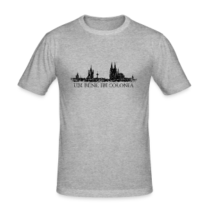 UBI BENE IBI COLONIA Skyline (Vintage Schwarz) Slim Fit T-Shirt - Männer Slim Fit T-Shirt