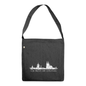 UBI BENE IBI COLONIA Skyline (Vintage Weiß) Recycling Tasche - Schultertasche aus Recycling-Material
