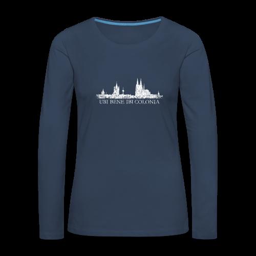 UBI BENE IBI COLONIA Skyline (Vintage Weiß) Langarmshirt - Frauen Premium Langarmshirt