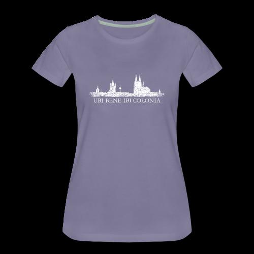 UBI BENE IBI COLONIA Skyline (Vintage Weiß) S-3XL T-Shirt - Frauen Premium T-Shirt