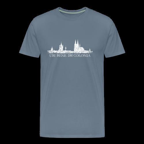 UBI BENE IBI COLONIA Skyline (Vintage Weiß) S-5XL Köln T-Shirt - Männer Premium T-Shirt