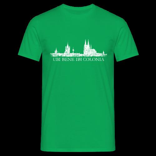 UBI BENE IBI COLONIA Skyline (Vintage Weiß) T-Shirt - Männer T-Shirt