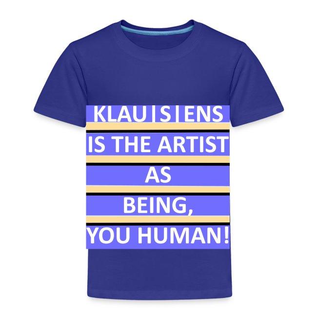 KINDER-T-SHIRT mit Aufdruck     Slogan von KLAUSENS