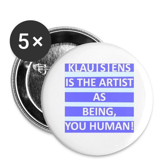 Button mit Aufdruck ||| Slogan von KLAUSENS