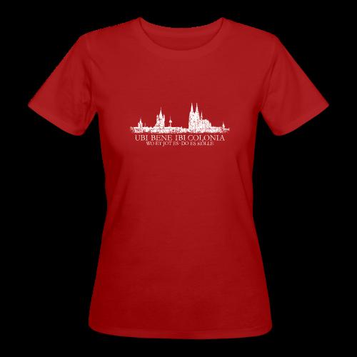 UBI BENE DO ES KÖLLE Skyline (Vintage Weiß) Köln Bio T-Shirt - Frauen Bio-T-Shirt