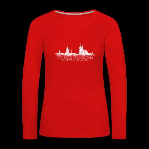 UBI BENE DO ES KÖLLE Skyline (Vintage Weiß) Langarmshirt - Frauen Premium Langarmshirt