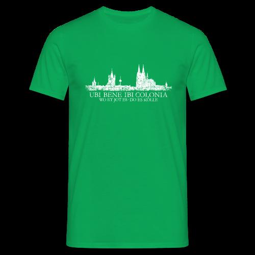 UBI BENE DO ES KÖLLE Skyline (Vintage Weiß) Köln T-Shirt - Männer T-Shirt