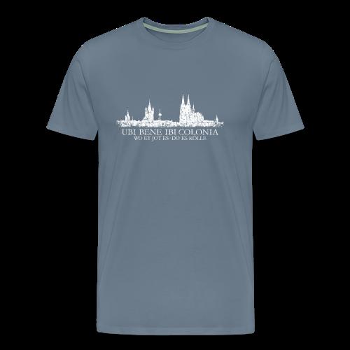 UBI BENE DO ES KÖLLE Skline (Vintage Weiß) S-5XL Köln T-Shirt - Männer Premium T-Shirt