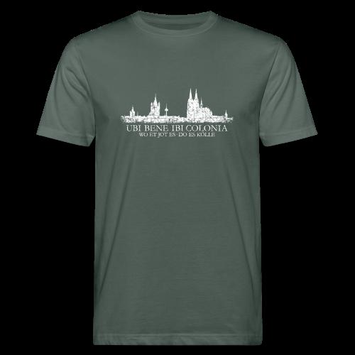UBI BENE DO ES KÖLLE Skyline (Vintage Weiß) Köln Bio T-Shirt - Männer Bio-T-Shirt
