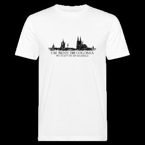UBI BENE DO ES KÖLLE Skyline (Vintage Schwarz) Köln Bio T-Shirt - Männer Bio-T-Shirt