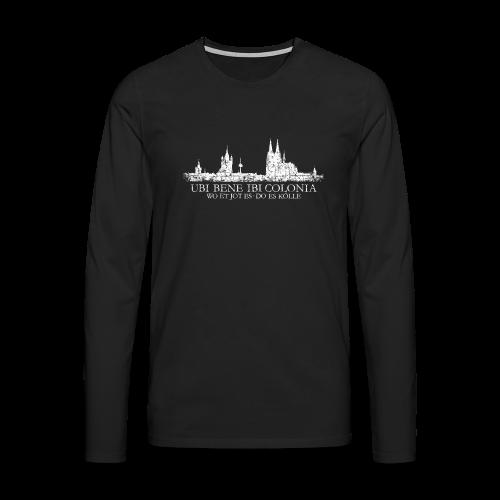 UBI BENE DO ES KÖLLE Skyline (Vintage Weiß) Langarmshirt - Männer Premium Langarmshirt